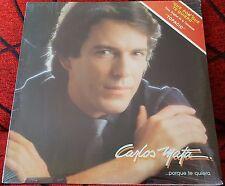 Latin Pop CARLOS MATA **...Porque Te Quiero** ORIGINAL 1986 USA LP STILL SEALED
