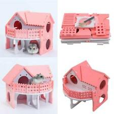 Wooden Hamster House Cage Accessories Degu Rat Rodents Rabbit Gerbil Mouse KV