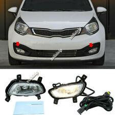 For 2012-2015 Kia Rio Sedan Halogen Front Fog Lights Assembly w/ Bulbs Cable 2PC
