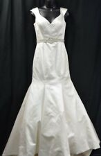 Allure Bridals Mermaid Wedding Dress bride gown Ivory train crystal 6193 S 8 NEW