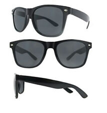 Black Sunglasess Lightweight 100% UV Protection Dark Lens Blues Nerd