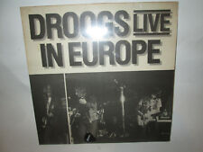 The DROOGS Live in EUROPE-sealed w/guitar pick-Import MUSIC MANIAC RECORDs 1985