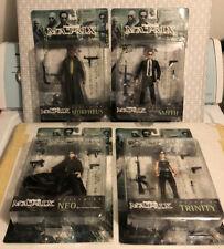 Lot Of 4 The Matrix Action Figures Nib Neo Trinity Agent Smith Morpheus