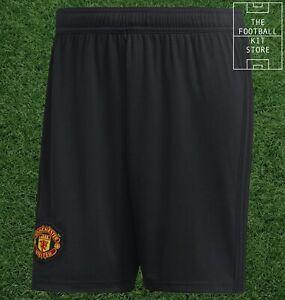 adidas Manchester United Home Shorts Black - Man Utd Football - Mens - All Sizes