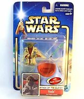 STAR WARS ATTACK OF THE CLONES,YODA-JEDI HIGH COUNCIL C7/8,WITH FORCE POWER, NEW