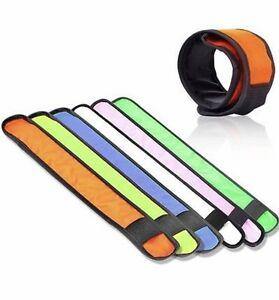 New LED Lightweight Premium Snap on Slap Band Wrist Ankle Bracelet Safety Child