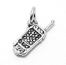 925 Sterling Silver 3D Cellular - Cell Phone Charm