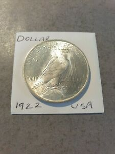United States 1922 Silver Peace Dollar Coin