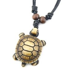 Cool yak bone Tribal men's style Turtle pendant necklace RH170