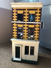 More details for antique victorian box backed 3 storey dolls house