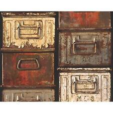 AS Creation Métal Boite Papier peint mural vintage réaliste effet texturé 306752