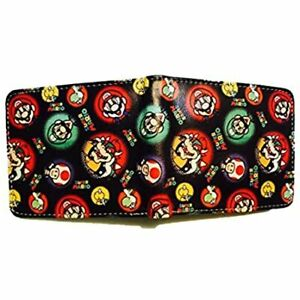 1 Piece Super Mario Characters Leather  Fashion Bifold Wallet