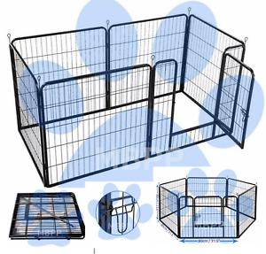 6pc puppy play pen dog whelping box kitten cage crate rabbit run guinea pig run