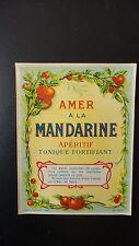 ANCIENNE ETIQUETTE ALCOOL AMER MANDARINE DOUIN ET JOUNEAU PARIS
