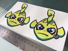Rossi Misano Fish DECALS STICKERS (100mm x 110mm) X2