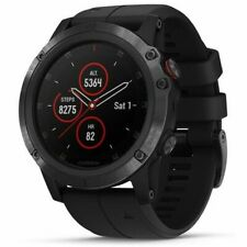 Garmin Fenix 5X Plus 51mm Sapphire Black Case with Black Strap GPS Watch
