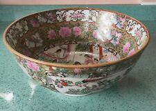 More details for stunning antique family rose chinese large bowl