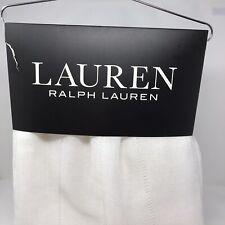 Ralph Lauren Curtain Panels White Stripe Hamilton Sheer 54 X 84