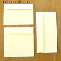 C6 DL SQUARE 100gsm IVORY ENVELOPES FOR CARDS PAPER CRAFT MAKING LOT WEDDING JOB