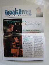 BRIAN WILSON Breakaway fan club #7 2000 Pet Sounds