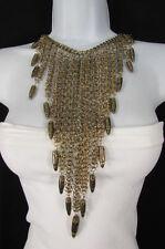 New Fashion Women Bib Long Necklace Antique Gold Metal Gun Rifle Bullets Chains