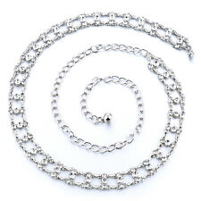 Silver Diamante/Diamond Ladies Waist Chain/Charm Belt