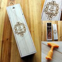Personalized Bottle Wooden Wine Box Wedding Groomsman Bridesmaid Birthday Gift j