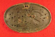 Civil War Us Box Plate Punctured holes w/ pocket knife - Dug Chesterfield, Va