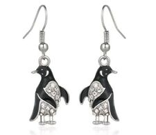 Crystal Penguin Drop Earrings Birthday christmas mothers day valentines 895