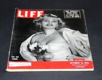 LIFE MAGAZINE OCTOBER 15 1951 ZSA ZSA GABOR