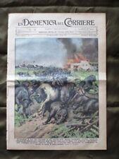 La Domenica del Corriere 18 Agosto 1935 Tori Spagna Locomotiva Mussolini