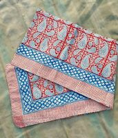 Indian Hand Block Print Sarong Dupptta Cotton Women Cover up Pareo Bikini Scarf