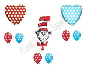 CAT IN THE HAT Dr. Seuss Birthday Party Balloons Decoration Supplies Baby Shower