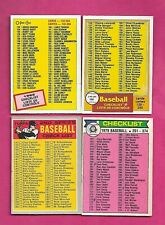 RARE 1970S 80S OPC MARKED CHECKLIST GOOD CARD LOT (INV# C5169)