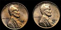 1961-D Lincoln Memorial Cent Lot-2 Coins-LCL0003