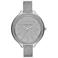 Michael Kors Uhr MK3250 Slim Runway Damenuhr Silber Edelstahl Strass NEU & OVP