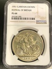 1951 UK FESTIVAL OF BRITAIN CROWN GEORGE VI S.4111 PROOFLIKE PL - NGC - PL64