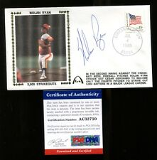 Nolan Ryan Signed FDC First Day Cover Autographed Astros PSA/DNA AC32710