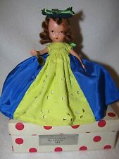 Vintage #183 Thursday's Child Bisque Nancy Ann Storybook Doll Pink Polka Dot Box