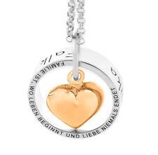 Namenskette Ring Herz Damenkette Gravur Anhänger Kette Familienkette Namen