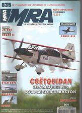 MRA N°835 PLAN : LEDUC 010 / COETQUIDAN / JR XG8 / RELAX II / RYAN STM / ALLEGRO