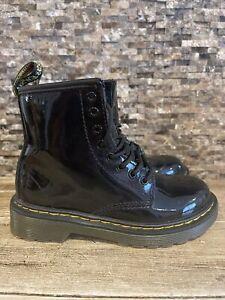 Dr. Martens 1460 Junior Size 12 UK 11 Kids Black Patent Leather Boots