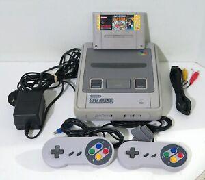 Super Nintendo Console + Super Mario All Stars + 2 Controllers SNES - Free Post