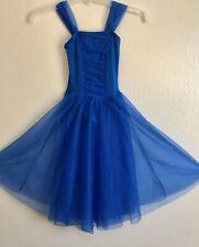 Blue Leotard Dress Dance Ice Skating Size 6