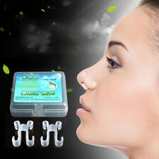 Silicone Anti Snore Nasal Dilators Stop Snoring Nose Clip Sleep Apnea Aid Device