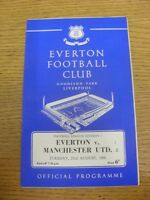 23/08/1966 Everton v Manchester United  (Score Noted On Cover & Team Changes). F