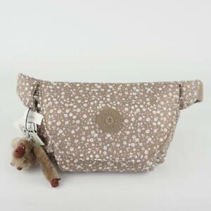 KIPLING ARVIN Waist Belt Bum Bag Fanny Pack Dainty Daisies Beige