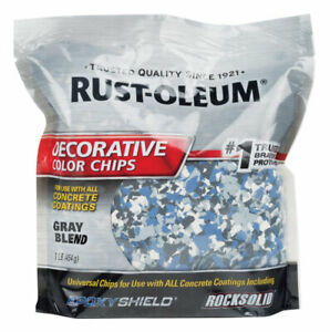 Rust-Oleum  Gray Blend  Decorative Color Chips  1 lb.