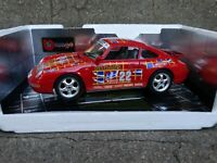 Bburago Porsche 911 Carrera Coupe GT3 Strauss Cup  1:18 Scale Diecast Car Red