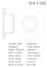 Disc Brake Rotor-4WD Rear Promax 20-54136